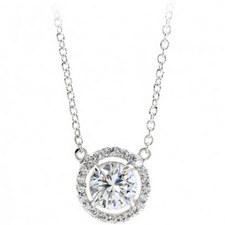 Hannah Halo Pendant Necklace
