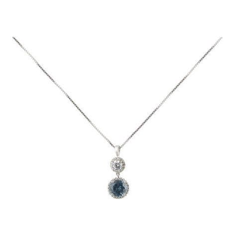 Clara Double Round Drop Pendant Necklace, ${color}