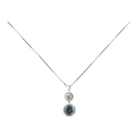 Clara Double Round Drop Pendant Necklace, ${color}