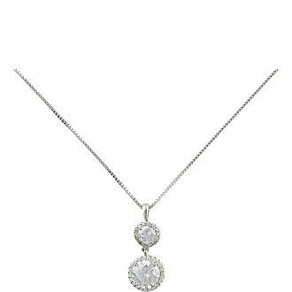Clara Double Round Drop Pendant Necklace