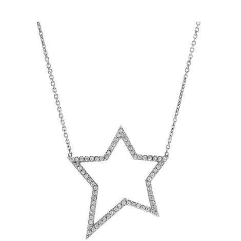 Pavé Star Necklace, ${color}