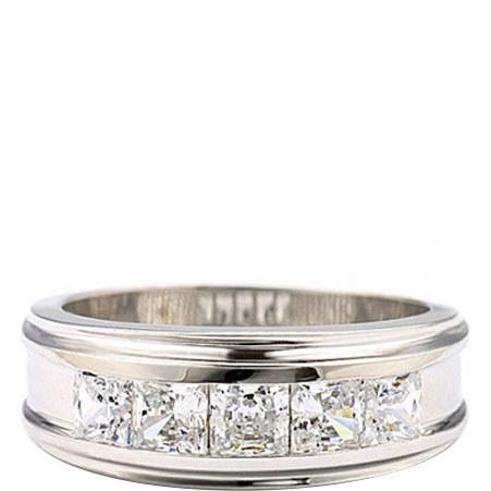 Five Squared Bezel Ring, ${color}