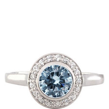 Deco Petite Bezel Ring