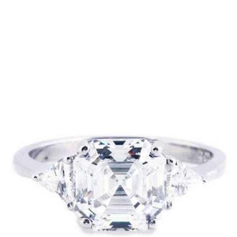 Ayla Asscher Crystal Ring, ${color}