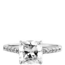 Micro Cushion Solitaire Ring