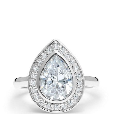 Art Deco Pear Ring, ${color}