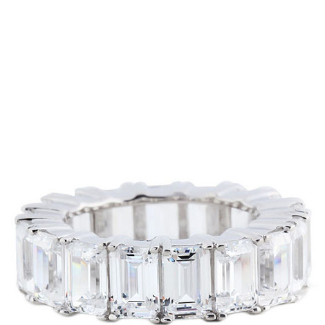Rectangular Crystal Baguette Ring, ${color}