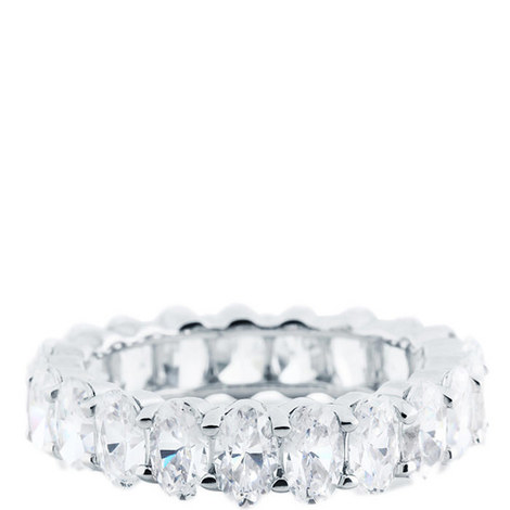 Oval Eternity Baguette Ring, ${color}