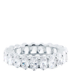 Oval Eternity Baguette Ring