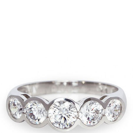 Bezel Setting Eternity Ring, ${color}