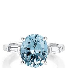 Brigitte Oval Baguette Ring