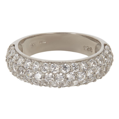 Chrissy Wide Pave Band Ring, ${color}