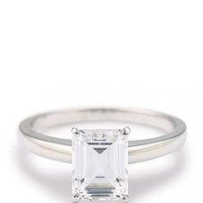 Emerald Solitaire Ring 4ct