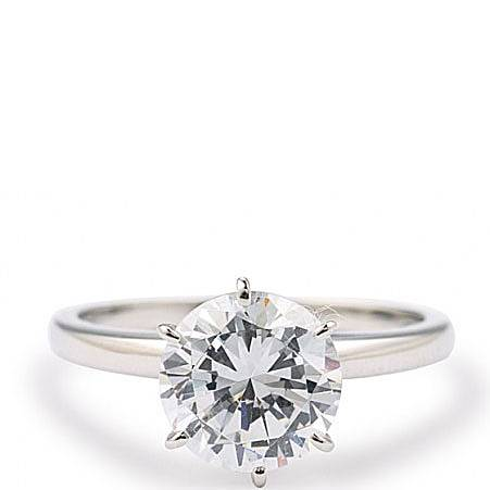 Solitaire Silver Ring, ${color}