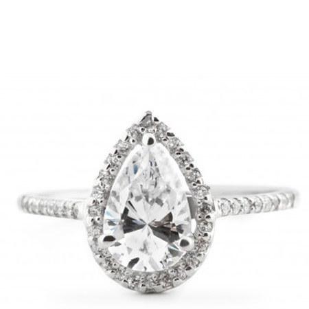 Halo Teardrop Ring, ${color}