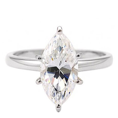 Marquise Solitaire Ring, ${color}