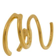 Left Bell Twirl Earring