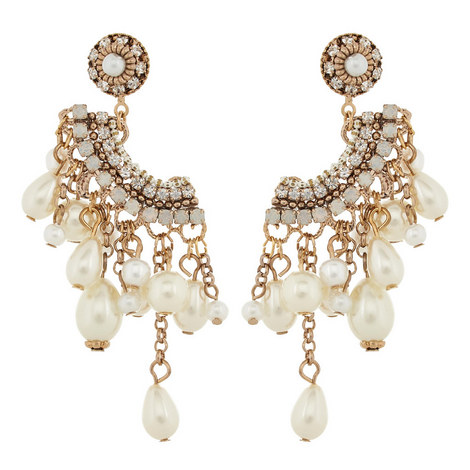 Mykonos Pearl Drop Earrings, ${color}