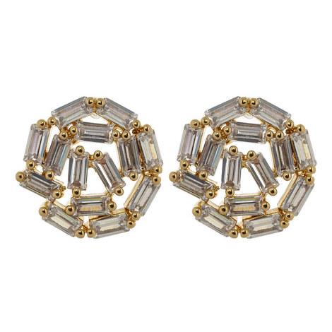 Hestia Motif Stud Earrings, ${color}