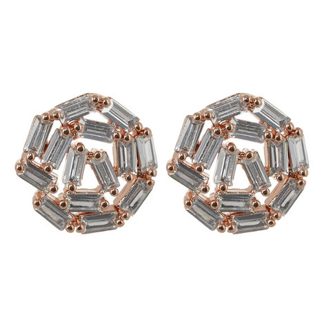Hestia Motif Stud Earrings, ${color}