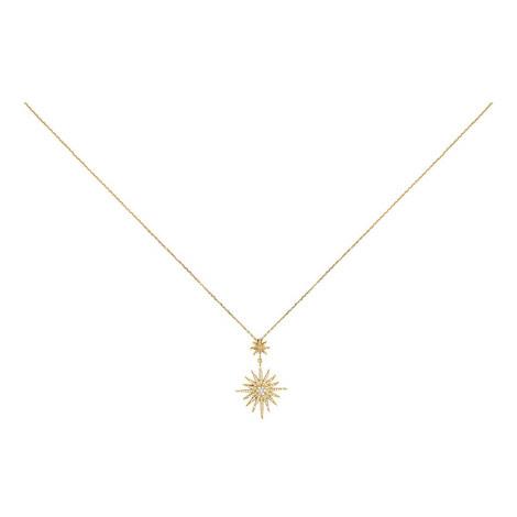 Double Star Pendant Necklace, ${color}