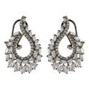 Pele Crystal Oval Drop Earrings, ${color}