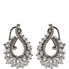 Pele Crystal Oval Drop Earrings