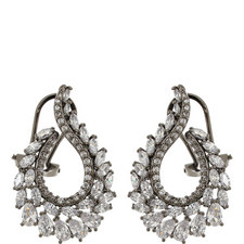 Pele Crystal Oval Drop Earrings