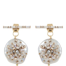 Mother-of-Pearl Bar Earrings