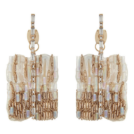 Square Drop Earrings, ${color}