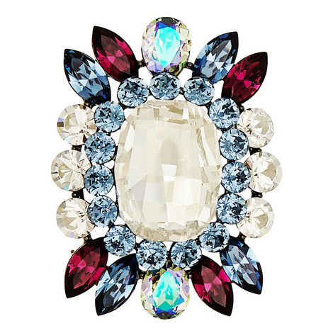 Crystal Encrusted Brooch, ${color}