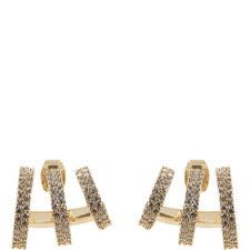 Triple Hoop Crystal Earrings