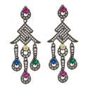 Roman Chandelier Earrings, ${color}