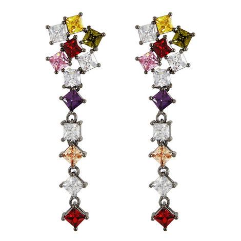 Celine Crystal Drop Earrings, ${color}