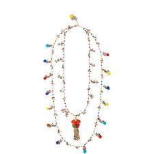 Layered Pom Pom Necklace