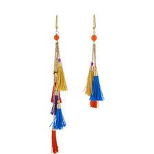 Asymmetrical Tassel Earrings