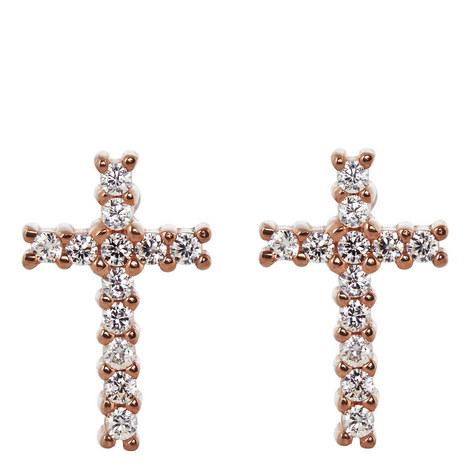 Cross Stud Earrings, ${color}