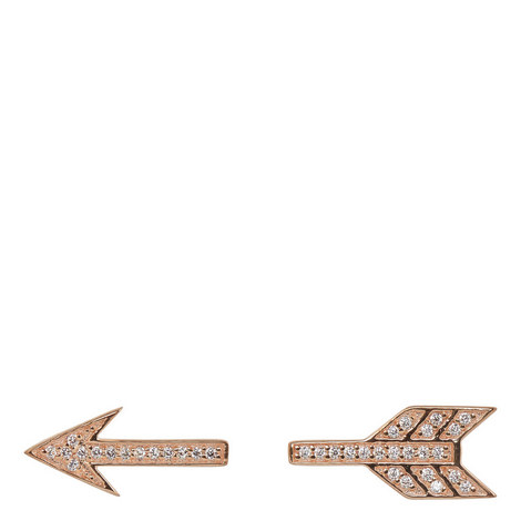 Split Arrow Stud Earrings, ${color}