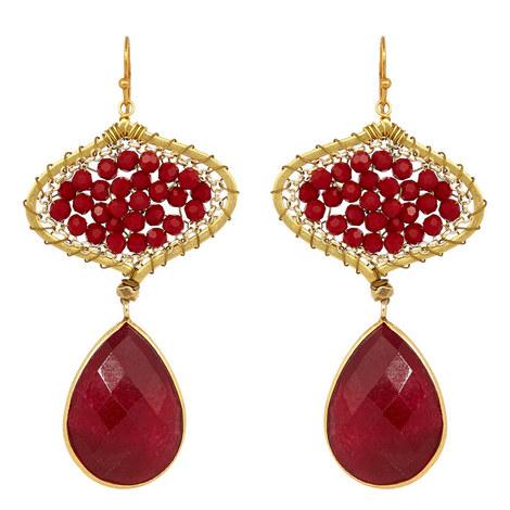 Jewelled Drop Earrings, ${color}