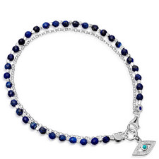 Biography Lapis Evil Eye Bracelet