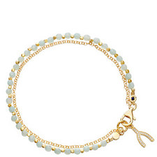 Biography Amazonite Wishbone Bracelet