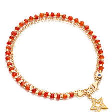 Biography Carnelian Shooting Star Bracelet