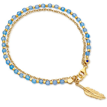 Biography Agate Feather Bracelet, ${color}