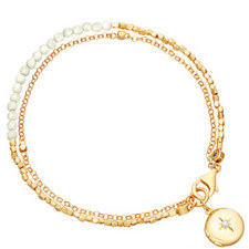 Biography Moonstone Locket Bracelet