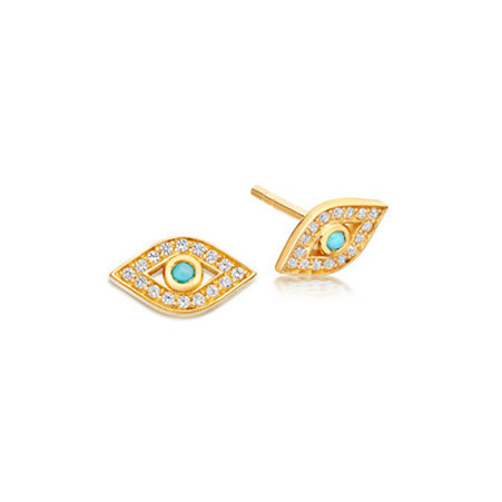Biography Mini Evil Eye Biography Stud Earrings, ${color}