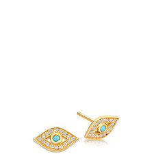 Biography Mini Evil Eye Biography Stud Earrings