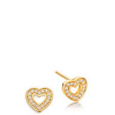 Biography Mini Heart Biography Stud Earrings