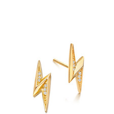 Biography Mini Lightning Bolt Biography Stud Earrings