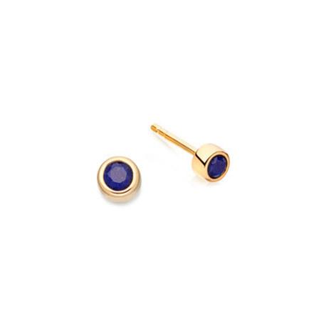 Lapis Mini Stilla Stud Earrings, ${color}