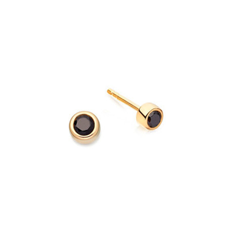 Black Spinel Mini Stilla Stud Earrings, ${color}